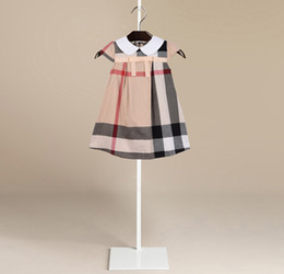 Wholesale United Designs - 2017 new brand design Summer Europe and the United States grid British style princess dress skirt dress cotton girl dresses