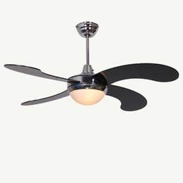 Wholesale Decaration Lights - HOT SALE !!! Modern brief dining room fan lights fashion brief coffee shop decaration ceiling fan remote control free shipping