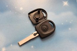 Wholesale Transponder Shells - 10pcs lot VW Transponder Key Shell Case Car Key Blank for Volkswagen Passat B5 + Free Shipping