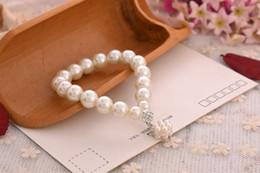 Wholesale Pearl Ball Pendant Bracelet - Pearl Beaded Bracelet Pearl Pendant Set Auger Small Ball Bracelet 12pcs lot 50