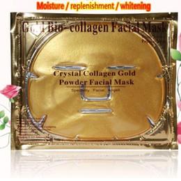nez gras Promotion 2016 Nouvel Or Bio-Collagène Masque Facial Masque Visage Cristal Or Poudre Hydratant Anti-âge Collagène Masque Facial Gratuit DHL
