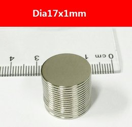 Wholesale N38 Neodymium - 20pcs 17x1mm N38 Strong Disc NdFeB Rare Earth Permanent Magnet Neodymium Magnets Craft Bulk Thin Round Disc, Free Shipping