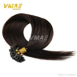 Canada Extensions de cheveux de kératine Fusion brésilien vierge humaine droite remy cheveux humains extensions pré-collées 0.5g / strand 100pcs 14-26 pouces Offre