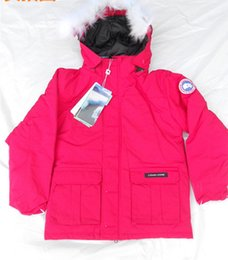 Wholesale Kids Goose Down Coats - Multicolor Canada Children Goose Winter Down Coat Outwear Boys Girls Outdoor Sports Fashion Thick Warm Down Jacket Hooded Coat for Kids