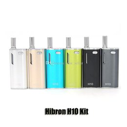 Wholesale Ce3 Starter Kit - Authentic Hibron H10 Oil Starter Kit 650mAh Battery Box Mod 0.8ml H10 Upgraded CE3 Atomizer Vaporizer