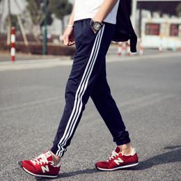 Wholesale New Full Size Black Jersey - Wholesale-2016 New Fashion men pants Joggers casual pants men straight trousers Track Pants plus size Harem Pants men's clothing Stripe