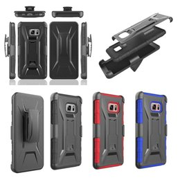 Wholesale Galaxy Note Ballistic Cases - 360 Degree Rotating Stand 3 IN 1 Hybrid TPU PC Hard Case For Samsung Galaxy NOTE7 NOTE 7 Armor Ballistic Clip Belt Shockproof Dot Skin Cover