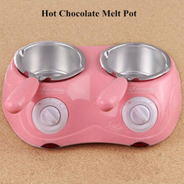 Wholesale Hot Sale Electric Chocolate Fountain Fondue Hot Chocolate Melt Pot Melter Machine