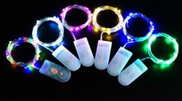 tira micro led Desconto 2017 2 M 20 LEDs cordas CR2032 Bateria Operado Micro Mini Fio De Cobre De Prata LEVOU Estrelado Tiras de LED Para O Natal Decoração de Halloween