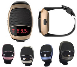 Wholesale Seals Watch - B90 Bluetooth Sports Music Speaker Watch B90 Portable Mini Bicycle Speaker Watch Bluetooth Speaker TF Card FM Audio Radio Speakers