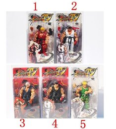 Wholesale Neca Street - HOT sale 5 Styles NECA Player Select Street Fighter IV Survival Model Ken Ryu Guile Action Figure Toy