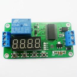 temporizador 12v dc Rebajas Interruptor DC 12V DC Multifunción auto-bloqueo del relé temporizador PLC Ciclo Módulo de tiempo de retardo