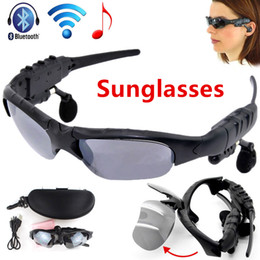 Wholesale Electronic Sunglasses - New Bluetooth Smart Glasses Sun Glasses Polarized Eyewear Sunglasses Wireless Headphones Headset For Android IOS Smart Electronics Wear