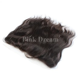 Wholesale Lace Frontal Closure 13x2 - Lace Frontal Closure 13X2 Cheap Brazilian Frontal Unprocessed Brazilian Straight Human Hair Lace Frontal Free Part