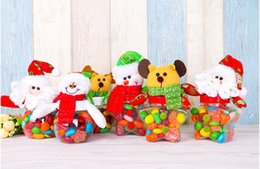 Wholesale Wholesale Santa Snowman Dolls - 2016 Christmas decorations. Gift candy jar for children. Santa Claus. Snowman. Elk. Doll. Christmas decorations. Small gift items.