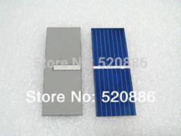 Wholesale Crystalline Solar Cells - Hot DIY solar panel 100 pcs 17.6% efficiency 52x19mm solar cell poly crystalline solar panel DIY Kit value pack