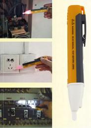 Wholesale Electric Light Sockets - 1pc Electric Socket Wall AC Power Outlet Voltage Detector Sensor Tester Pen LED Light Indicator 90-1000V Hot Sale