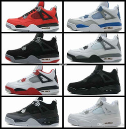 308c4e2d76fc 4 IV Mens Basketball Pure Money Royalty White Cement Bred Men Outdoor 4s  Sports Training Boots Athletic Sneakers Shoe Size US 8-13