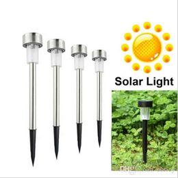 Wholesale Outdoor Corridor - New LED Solar Lights Sun Lawn Light Stainless Garden Outdoor Sun Light Corridor Lamp Outdoor Garden Lamp Solar Powered Colored Solar Lamps
