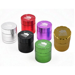 Wholesale Machining Aluminum - Cali Crusher Homegrown Grinder 4 Piece Tobacco Herb Aircraft Aluminum Grinder Size 40mm*40mm*55mm Cigarette Machine Scraper with Catcher
