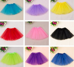 Wholesale Wholesale Dance Tutu - cheap baby girl dance tutu skirt children tulle tutus pettiskirt princess party costumes Free shipping 10pcs lot free shipping