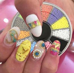 Pregos acrílicos doces on-line-Atacado- 12 cores dos doces 1.5mm partículas acrílico unhas contas roda glitter manicure dicas para encantos 3d decorações da arte do prego