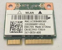 Wholesale Pcie Wireless Cards - Wholesale- Qualcomm Atheros AR9565 QCWB335 DW1705 Half Mini PCIe BT4.0 Wireless Card CN-0C3Y4J for INSPIRON 15 3521 3537 17R 5721 N4010
