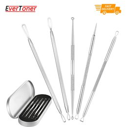 Wholesale pimples treatment - Blackhead Remover Kit, 5-in-1 Pimple Extractor Acne Comedone Blackhead Removal Tool Set, Treatment for Blemish, Whitehead, Zit Removing