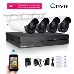 Wholesale Security Camera S - 4CH H.264 NVR Recorder 720P High-definition monitor PoE Function CCTV Outdoor Security IP Camera System Motion Detection Dual power supply s