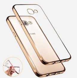 Wholesale Gild Phone - Luxury Style Plating Gilded TPU Soft Silicone Phone Case Cover For Samsung Galaxy A3 A5 A7 2016 J5 J7 Grand Prime S5 S6 S7 Edge