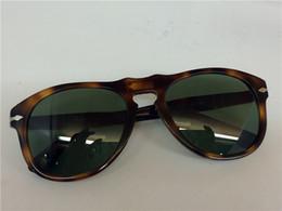 Wholesale Tortoise Eyes - Persol PO 649 Sunglasses Tortoise Havana Green Lens Aviator Sunglasses brand new with case