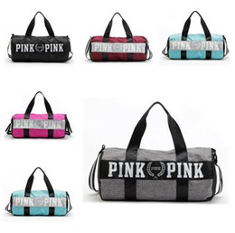 Wholesale Women Sports Bag - Canvas secret Storage Bag organizer Large Pink Men Women Travel Bag Waterproof Victoria Casual Beach Exercise Luggage Bags