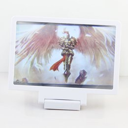 Wholesale Video Display Stands - Mobile Phone Screen Magnifier 3D Display Video Screen Amplifier Enlarged Expander Stand Holder For iPhone 6 6S Plus Samsung S5 S6 S7