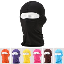 Wholesale Lycra Mask Wholesale - Wholesale-Wholesale Outdoor Protection Full Face Lycra Balaclava Headwear Ski Neck Cycling Motorcycle Mask