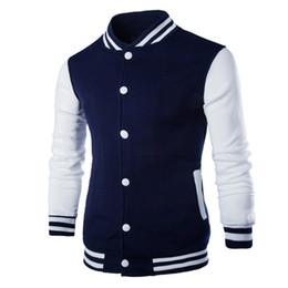 Wholesale Varsity Jackets Free Shipping - Wholesale-Fashion boutique men's clothing ! Free Shipping NWT Varsity Letterman College Baseball COTTON JACKET Men's Clothing Coats