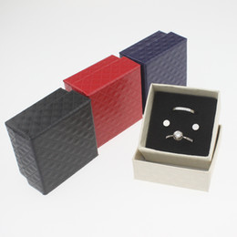 Wholesale Wood Earring Gift Box - 5*5*3cm Jewelry box Earrings Ring Small Necklace Jewelry Gift Display Box Christmas Gift Jewelry Boxes
