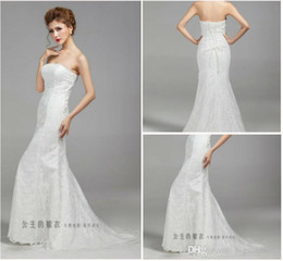 Wholesale Quinceanera Mermaid Wedding Dresses - wholesale--- The new foreign trade of the new package hip waist fishtail trailing sexy thin Slim bride wedding dre