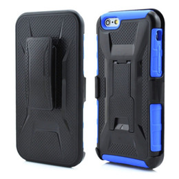 Wholesale Iphone Swivel Cases - Armor Holster Defender Full Body Protective Hybrid Case Cover for iphone 6s 6 Plus Samsung S7 S6 Edge LG Nexus 5X With Belt Swivel Clip DHL