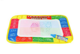 Wholesale Musical Pen - 29X19cm Multicolor Rainbow Water Drawing Mat with pen Aqua Doodle Mat Rug for Painting Xmas Gift for Kids