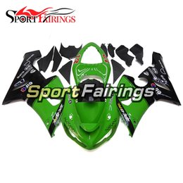 Wholesale Zx6r Frame - Green Black Covers Full Fairings For Kawasaki ZX6R ZX-6R 636 Year 2005 2006 05 06 Sportbike ABS Motorcycle Fairing Kit Body Frames