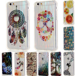 Wholesale Skull Phone Iphone Cases - For iPhone 6 6S Plus 6Plus 5 5S SE Brushed Skull Dream Catcher with Dust Plug Soft TPU Phone Case Cover for iPhone6