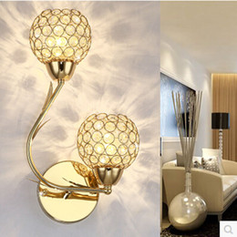 cristal de pared moderno simple cristal de oro plata creativa led cabecera dormitorio pared pasillo de la lmpara lmparas de pared lmpara moderna de oro