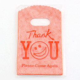 "Wholesale Thank Plastic Bags - Hotl ! Jewelry Pouch.200 Pcs orange ""thank you"" Plastic Bags Jewelry Gift Bag 9x15cm"