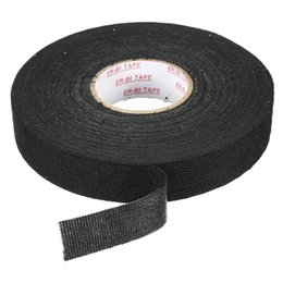 Wholesale Fabric Harness - Wholesale-High Quality Adhesive Force Black Wiring Loom Harness Adhesive Cloth Fabric Tape Cable Loom 25mmx25m Easy To Operate