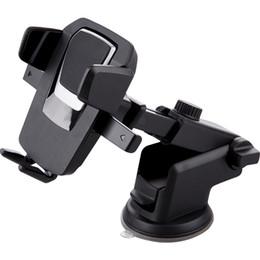 acessórios baratos para telefones celulares atacado Desconto Novo Design Longo Pescoço Ajustável Universal 360 Rotativo PU Sucção com adesivo pára-brisa painel de montagem do carro titular do carro universal