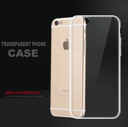 Wholesale Crystal Clear - For iPhone 6 7 8 S8 plus X Samsung S7 0.5MM Crystal Gel Case for iPhone 6s Plus Ultra-Thin transparent Soft TPU Clear Cases