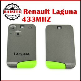 Wholesale Renault Card Remote - Best Quality High Quality renault Remote Key Laguna Smart Card 2 Button with Insert Small key blade 434Mhz with best price