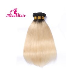 Wholesale Weft Remy Hair Extensions Platinum - Omre 613 Bleach Blonde Malaysian Remy Hair Straight Weaves Human Hair Extension Platinum Malaysian Blonde Unprocessed Hair Machine Weft