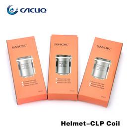 Wholesale Original Helmets - Original SMOK Helmet Coil Heads 0.4ohm 0.6ohm 0.85ohm 1.0ohm Replacement Clapton Coil for Helmet Mini Tank