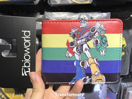 Wholesale Transformer Coin - American Comic Voltron Transformers Wallets Mens Wallets Female Purse Short Leather Slim Zipper Coins Balsos Boys Gifts Cards